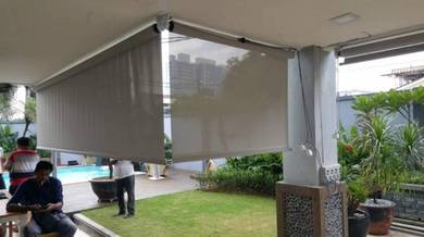 Outdoor Fabric Roller Blinds