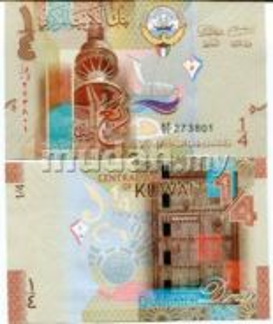 Kuwait 0.25 dinar 2014 unc