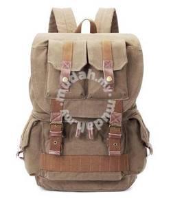 Army Green DSLR Camera Multi-Pocket Bag Backpack