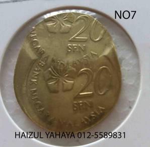 Error Coin - 20 Sen (No. 7)