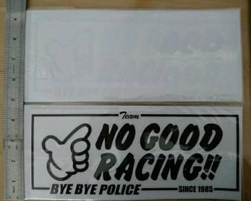 No Good Racing Bye Bye Police Sticker