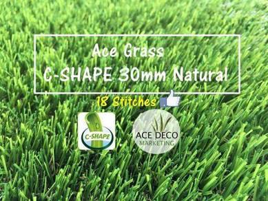 PROMOSI 18 Stitches C30mm Natural Rumput Tiruan
