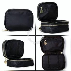 Rubi Double Story Case make up pouch black gold