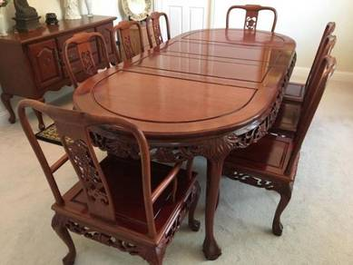 Authentic Chinese Rosewood 12 Pieces 8foot dinning