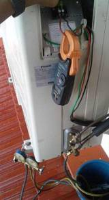Aircond servis intall wiring