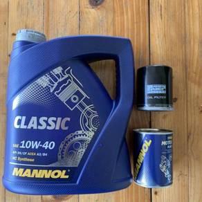 Minyak Enjin MANNOL Classic 10w-40 4L + Free Gift