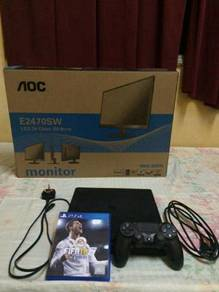 Ps4 slim 500gb with monitor