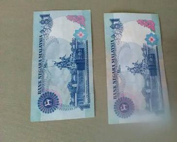Duit Kertas RM1 (3keping) RM2 (1keping)
