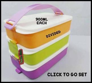 Tupperware Click TO GO Set