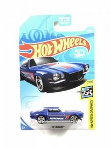 Hotwheels 2018 '70 Camaro #7 Blue