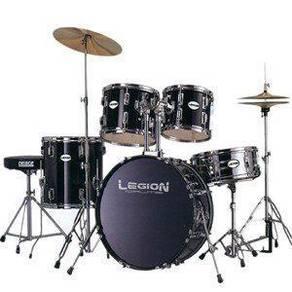 Drum Set Hitam Baru (Sesuai untuk sekolah)