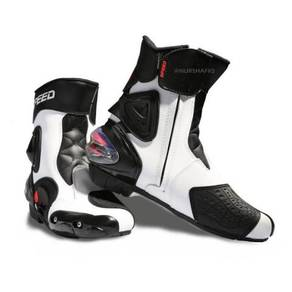 Pro-biker speed riding boots (white)