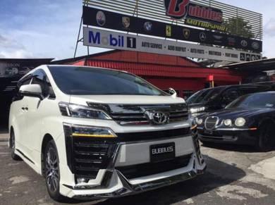 Toyota vellfire Z/R 2019 facelift front conversion