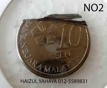 Error Coin - 10 Sen (No. 2)