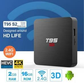 Android TV BOX T95 S2 Quad Core (2GB+16GB)-4K