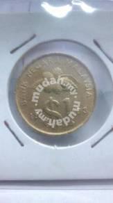 (CN 0008) 1993 Malaysia Keris 1 Ringgit Coin