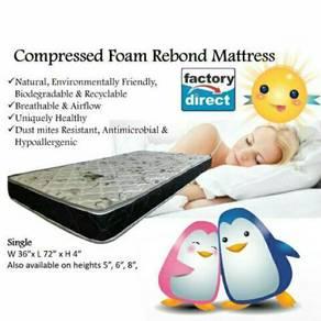 Single 4 inch Rebond mattress