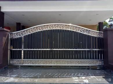 Pintu pagar Stainless Steel