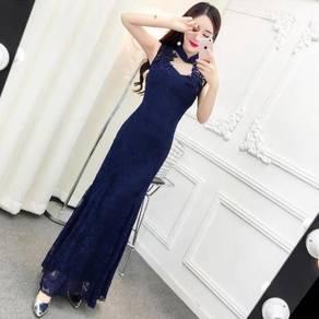 Cheongsam wedding bridesmaid dinner prom dress