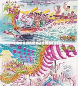 Miniature Sheet Year of Dragon Malaysia 2000 toned
