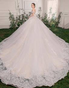 White prom wedding bridal dress gown RB0637