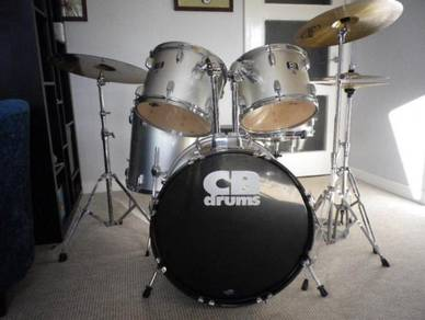 Cd drum kit including upgraded cymbals and skins
