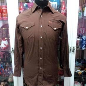 Vintage Western Ely Brown Pearl Snap Shirt