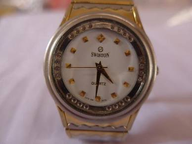 Swiston White Dial Watch