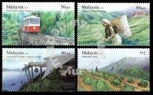 Mint Stamps Highland Tourist Spot Malaysia 2011