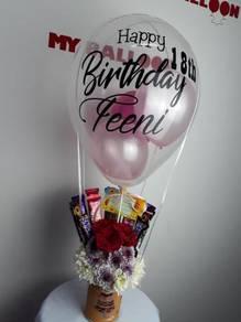 Box Balloon with clear balloon Senawang