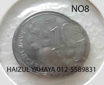 Error Coin - 10 Sen (No. 8)