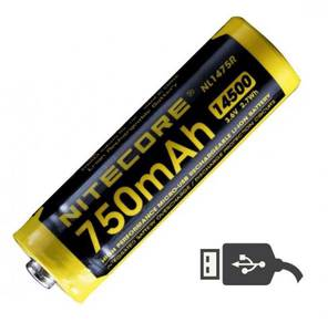 Nitecore 14500 USB Rechargeable Li-ion Battery