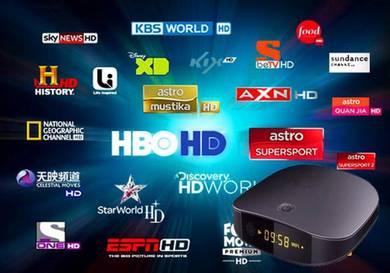 (RAYA 0FFER) HD XTRO L1VETIME Android 4k tv box