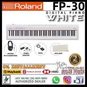 Roland FP-30 White Full Digital Piano