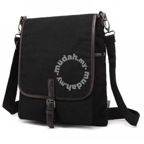 B6071 Trendy Black Multi-Purpose Porter Sling Bag