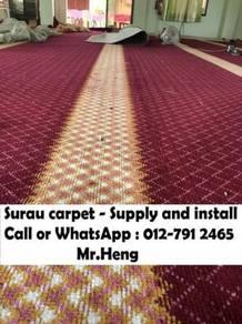 Carpet specislist pasang karpet Surau Masjid 83PQ