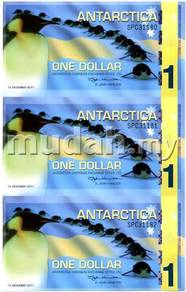 ANTARCTICA New Issue 3 pcs Uncut2011(Issued 2012)