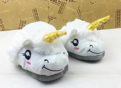 White unicorn indoor sandals slipper gift limited