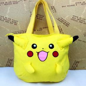 Pikachu pokemon canvas yellow shopping tote
