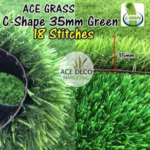 Pemborong 18 Stitches C35mm GREEN Artificial Grass