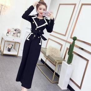 Black white red long sleeve formal dress RBP0912