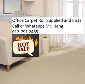 Modern Office Carpet roll with Install 0986hju8