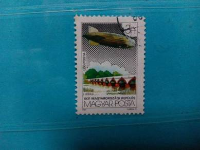 Hungary Stamps Zeppelin flight