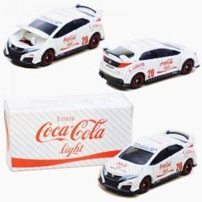Tomica Coca Cola 1:64 Diecast Honda Civic White