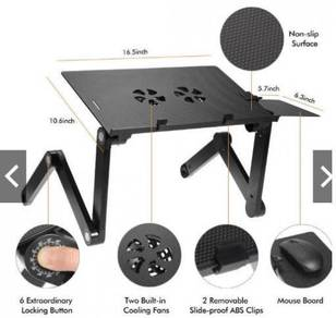 Meja laptop table with fan new