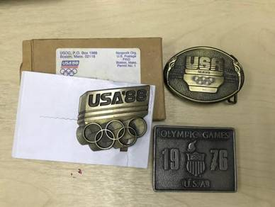 Buckle Olympic Games USA tembaga