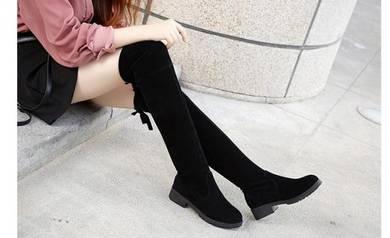 7934-A Women High-heeled Casual Knee Boots