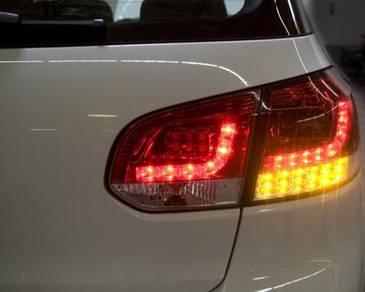 Volkswagen Golf 6 Led Tail Lamp Chromed BaseTaiwan