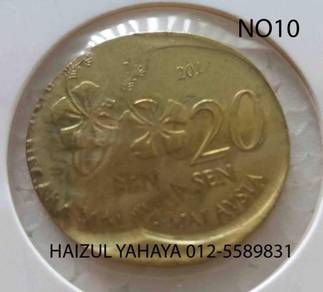 Error Coin - 20 Sen (No. 10)