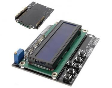1602 LCD Board Blue Backlight Keypad Shield